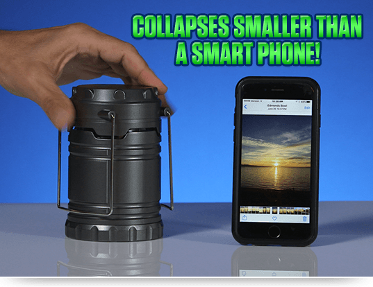 COLLAPSES SMALLER THAN A SMART PHONE!